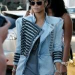 Rihanna dons her Balmain