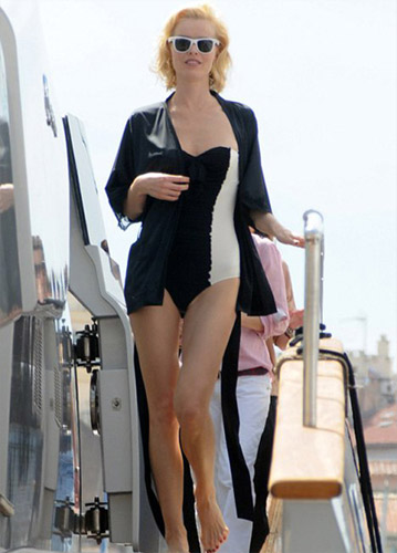 Eva Herzigova One Piece Swimsuit