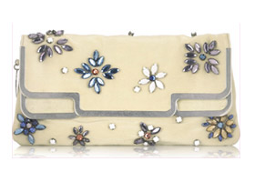 Stella McCartney Gem-embellished clutch