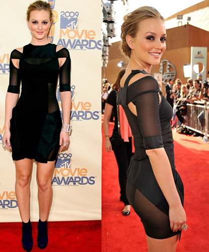 2009 MTV Movie Awards: Leighton Meester plays it sheer and sexy