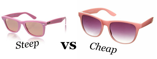 Steep vs Cheap: Ray-Ban or Topshop?