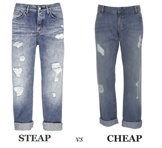 Steep vs Cheap: Ripped Boyfriend Jeans