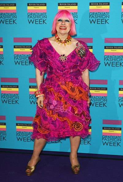 Zandra Rhodes embarrassed but not hurt