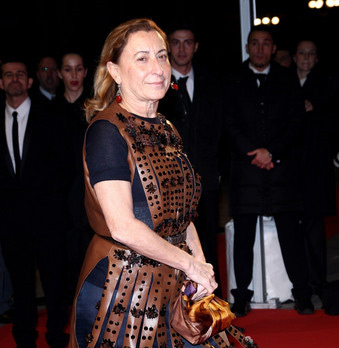 Miuccia Prada not upset with falling models