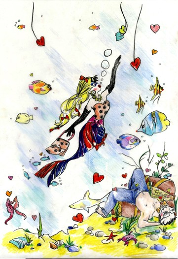 An Alber Elbaz illustration for Mika