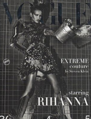 Rihanna goes topless for Italian Vogue