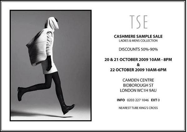 Grab your diary: TSE Cashmere Sample Sale!