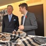 Prince Charles visits Burberry
