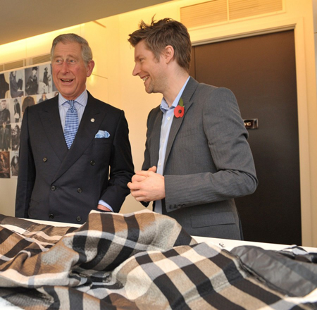 Prince Charles and Christopher Bailey