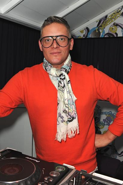 Giles Deacon at the launch of Cadbury's Caramel Nibbles