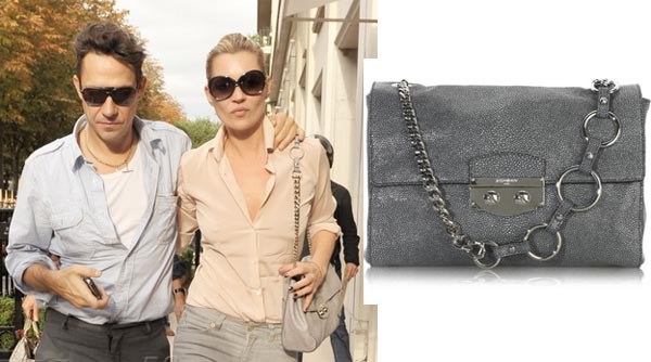 Kate Moss and her YSL Le Sixième handbag