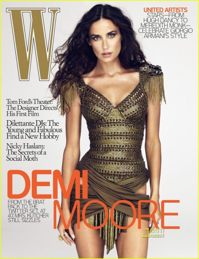 Demi Moore on W magazine's December issue