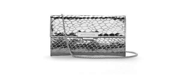 Don't forget: win a silver clutch bag worth $225 from Aspinal of London!