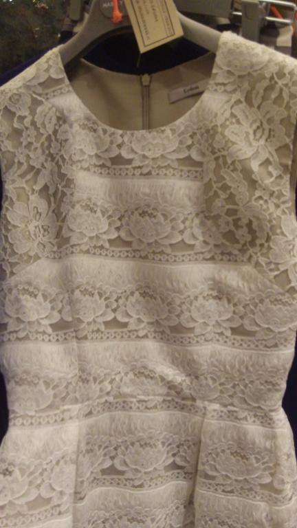 Cream lace dress by Erdem