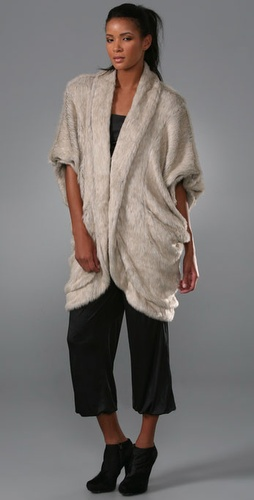 Lunchtime buy: Elizabeth and James Faux Fur Cocoon Shrug