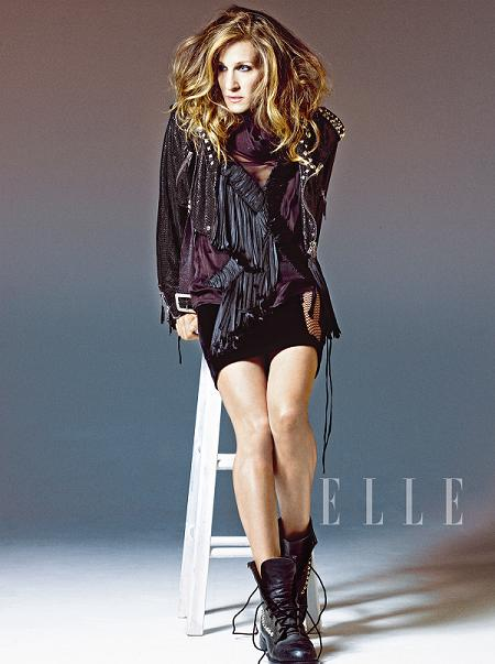 Sarah Jessica Parker in US Elle's December issue