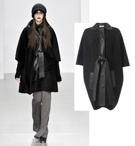 Lunchtime buy: Jaeger's Leather Trim Cape Coat
