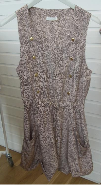 Speckled drawstring playsuit