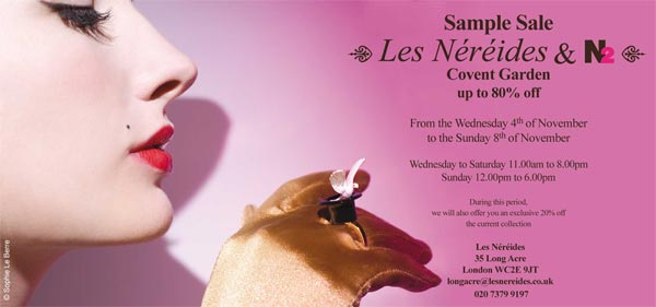 Grab your diary: Les Nereides & N2 Sample Sale!