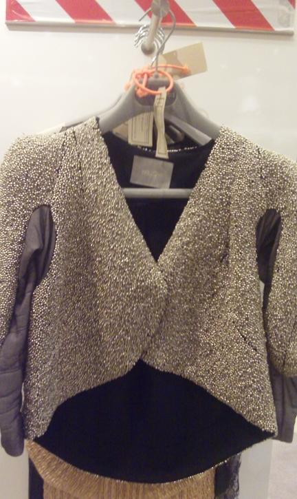 Metal beaded jacket by Willow
