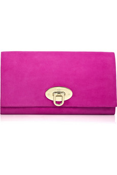 Lunchtime buy: Mulberry Oversized Ava suede clutch