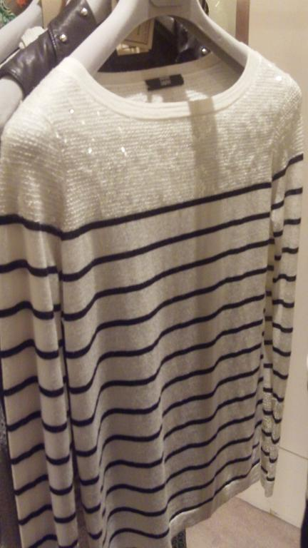 Nautical sequin sweater by Markus Lupfer