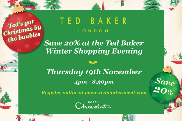 Save 20% at the Ted Baker Winter Shopping event