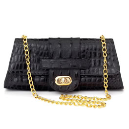 Lunchtime buy: JJ Winters Black Leather Gold Chain Bag
