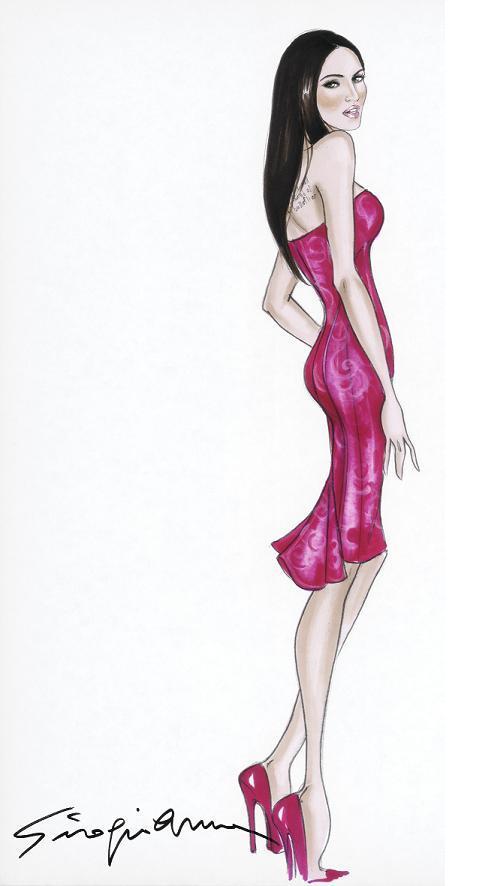 Emporio Armani dress sketch