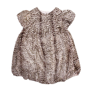 Cavalli Leopard print velour special occasion dress