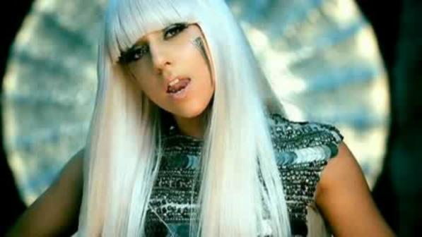 Lady Gaga wearing Berardi in Pokerface
