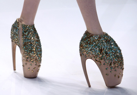 Models refused to walk in McQueen's armadillo shoes