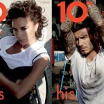 10 magazine: David and Victoria Beckham do his and hers