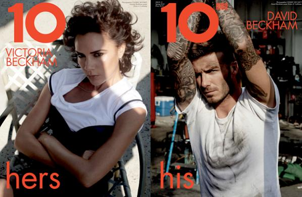 Victoria Beckham and David Beckham for 10 magazine
