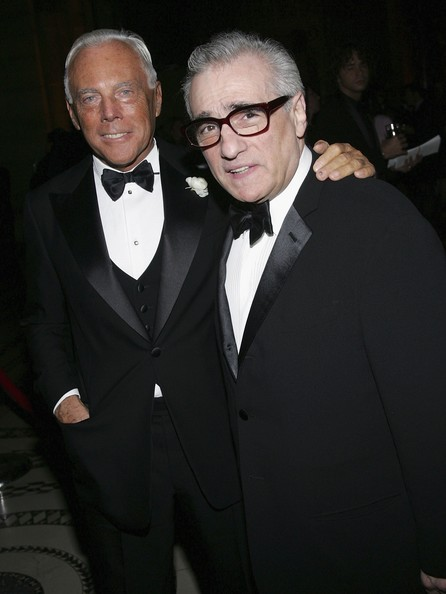 Giorgio Armani and Martin Scorsese