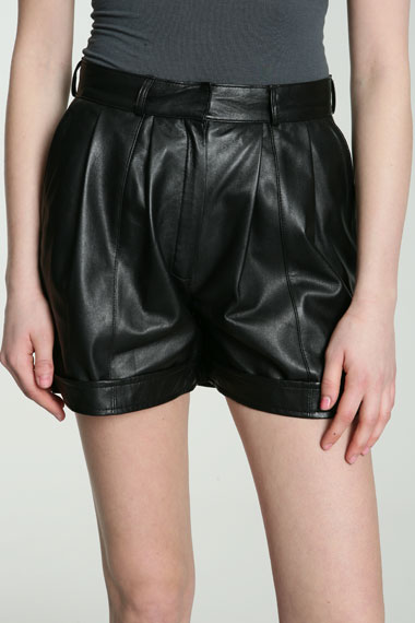 Lunchtime buy: Surface to Air Kurtis leather shorts