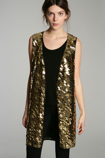 Lunchtime buy: t.b.a. gold sequin waistcoat