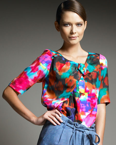 Lunchtime buy: Thakoon printed pleated-neck top