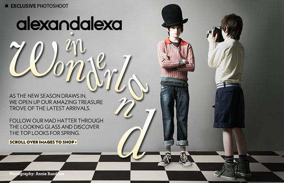 Daisy Lowe's little siblings' modelling debut for alexandalexa