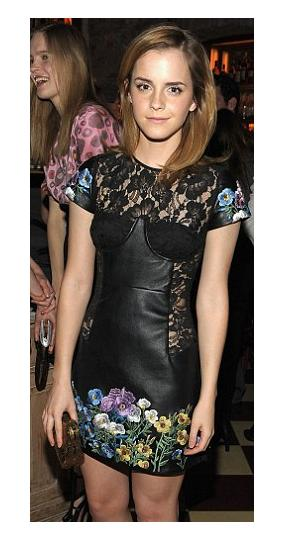 Emma Watson wears next season Christopher Kane