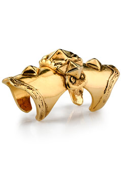 Lunchtime buy: gold armour knuckle ring from Low Love by Erin Wasson