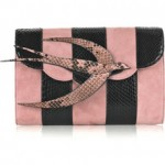 Lunchtime buy: Miu Miu bird suede and python clutch