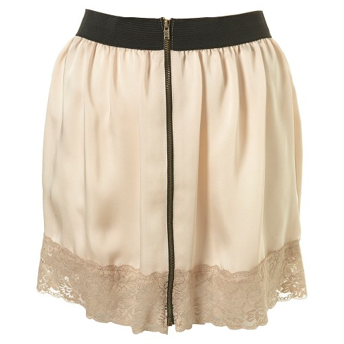 Lunchtime buy: Topshop lace zip slip skirt