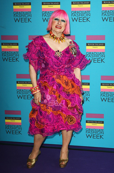 Zandra Rhodes doesn't like shopping