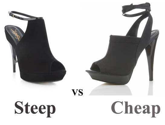 Steep vs Cheap: YSL Peep Toes