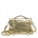 Lunchtime buy: limited edition Mulberry metallic gold Alexa satchel
