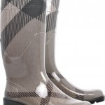 Lunchtime buy: Burberry checked wellington boots