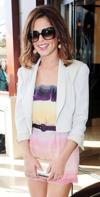 Cheryl Cole in Anya Hindmarch at Cannes