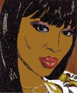 Naomi Campbell by Mickalene Thomas