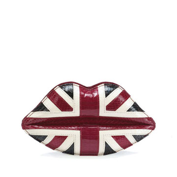 Lunchtime buy: Lulu Guinness Union Jack lips clutch